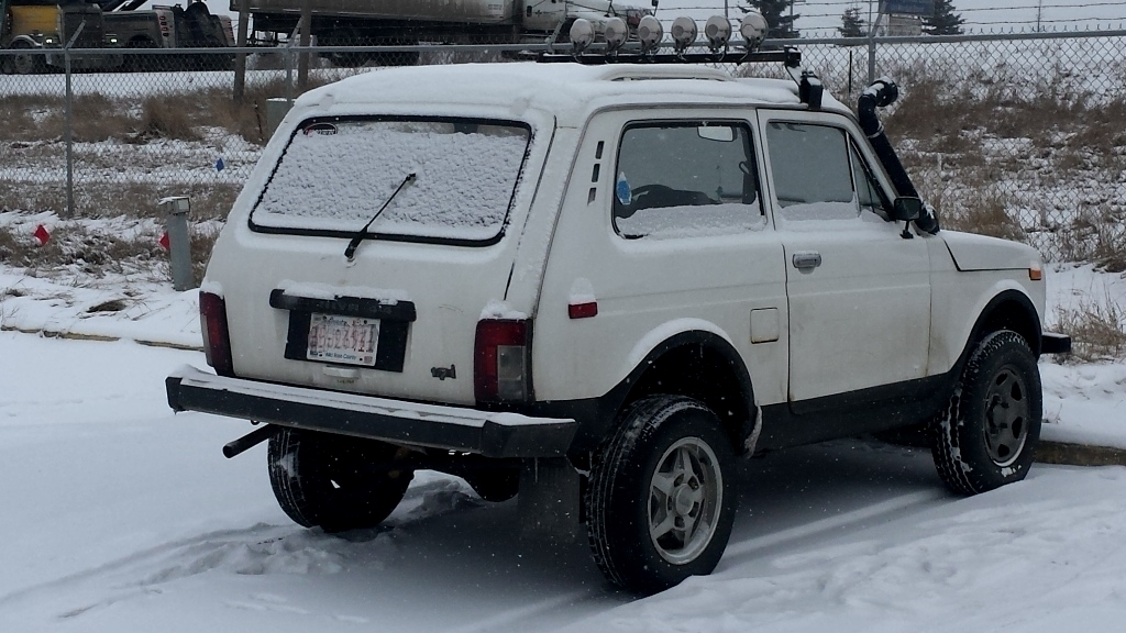 A Russian Lada Niva off-road vehicle