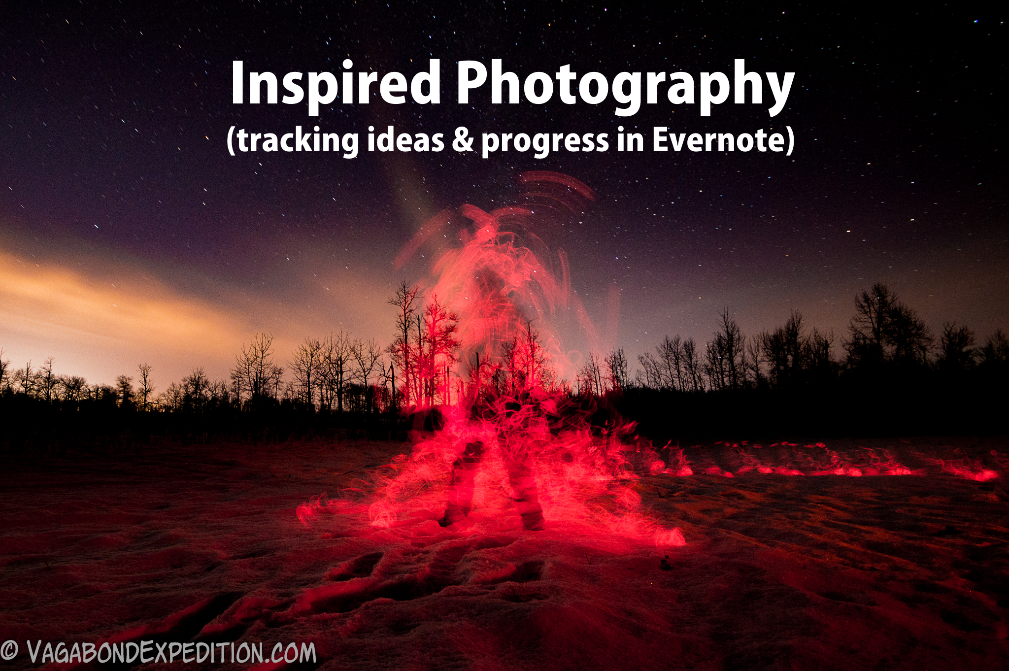 keep track of your inspirations of amazing photography using Evernote