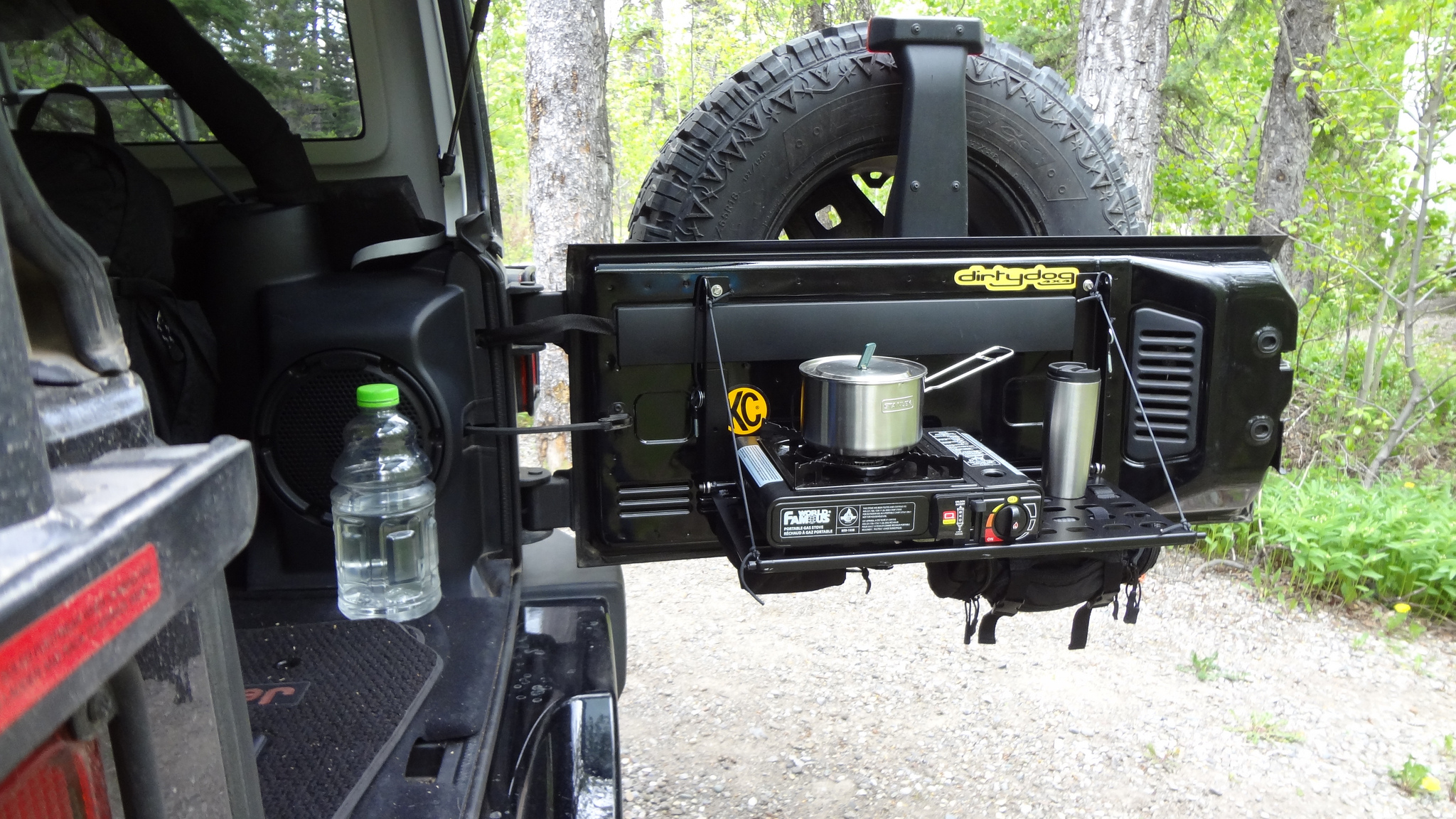 Jeep Tailgate Molle Table Vagabond Expedition